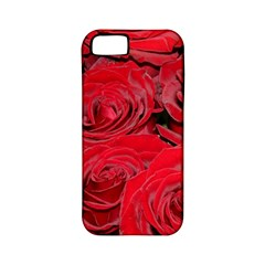 Red Love Roses Apple Iphone 5 Classic Hardshell Case (pc+silicone) by yoursparklingshop