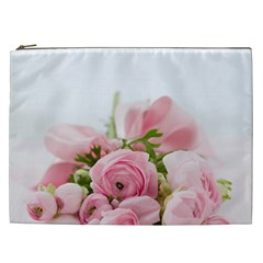 Romantic Pink Flowers Cosmetic Bag (xxl)  by yoursparklingshop