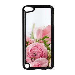 Romantic Pink Flowers Apple Ipod Touch 5 Case (black) by yoursparklingshop