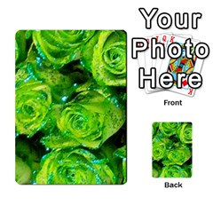 Festive Green Glitter Roses Valentine Love  Multi Purpose Cards (rectangle)  by yoursparklingshop