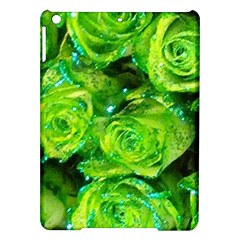 Festive Green Glitter Roses Valentine Love  Ipad Air Hardshell Cases by yoursparklingshop