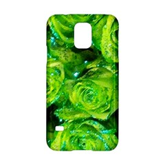 Festive Green Glitter Roses Valentine Love  Samsung Galaxy S5 Hardshell Case  by yoursparklingshop