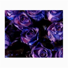 Purple Glitter Roses Valentine Love Small Glasses Cloth by yoursparklingshop