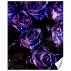 Purple Glitter Roses Valentine Love Canvas 16  X 20   by yoursparklingshop