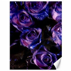 Purple Glitter Roses Valentine Love Canvas 36  X 48   by yoursparklingshop