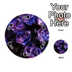 Purple Glitter Roses Valentine Love Playing Cards 54 (round)  by yoursparklingshop