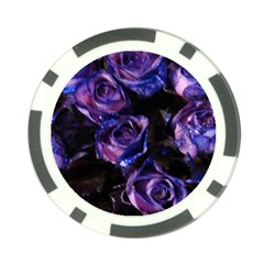Purple Glitter Roses Valentine Love Poker Chip Card Guards (10 Pack)  by yoursparklingshop