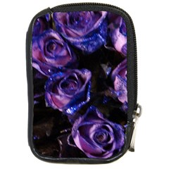 Purple Glitter Roses Valentine Love Compact Camera Cases by yoursparklingshop