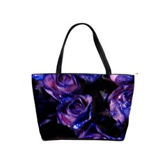 Purple Glitter Roses Valentine Love Shoulder Handbags by yoursparklingshop