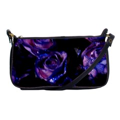 Purple Glitter Roses Valentine Love Shoulder Clutch Bags by yoursparklingshop