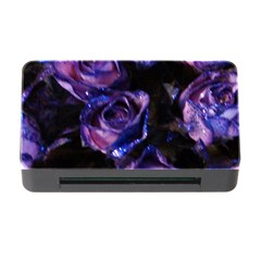 Purple Glitter Roses Valentine Love Memory Card Reader With Cf by yoursparklingshop