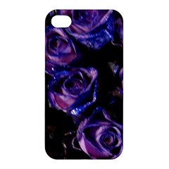 Purple Glitter Roses Valentine Love Apple Iphone 4/4s Hardshell Case by yoursparklingshop