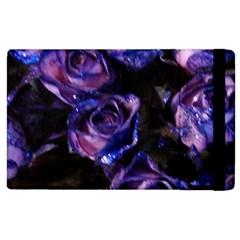 Purple Glitter Roses Valentine Love Apple Ipad 3/4 Flip Case by yoursparklingshop