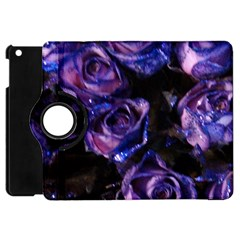 Purple Glitter Roses Valentine Love Apple Ipad Mini Flip 360 Case by yoursparklingshop