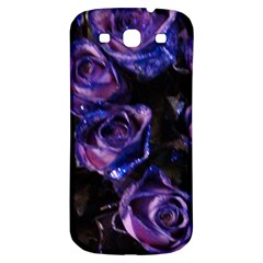 Purple Glitter Roses Valentine Love Samsung Galaxy S3 S Iii Classic Hardshell Back Case by yoursparklingshop