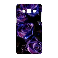 Purple Glitter Roses Valentine Love Samsung Galaxy A5 Hardshell Case  by yoursparklingshop
