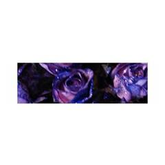 Purple Glitter Roses Valentine Love Satin Scarf (oblong) by yoursparklingshop