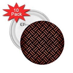 Woven2 Black Marble & Copper Brushed Metal 2 25  Button (10 Pack) by trendistuff