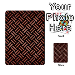 Woven2 Black Marble & Copper Brushed Metal Multi Purpose Cards (rectangle) by trendistuff