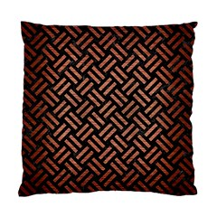 Woven2 Black Marble & Copper Brushed Metal Standard Cushion Case (two Sides) by trendistuff