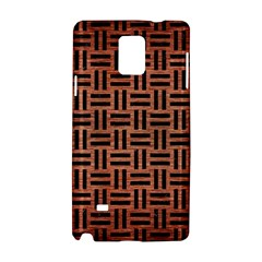 Woven1 Black Marble & Copper Brushed Metal (r) Samsung Galaxy Note 4 Hardshell Case by trendistuff