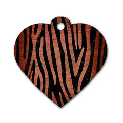 Skin4 Black Marble & Copper Brushed Metal (r) Dog Tag Heart (one Side) by trendistuff