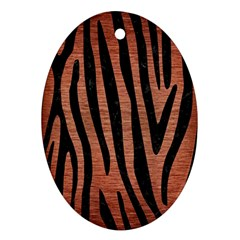 SKN4 BK MARBLE COPPER Ornament (Oval)  by trendistuff