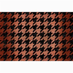 Houndstooth1 Black Marble & Copper Brushed Metal Collage 12  X 18  by trendistuff