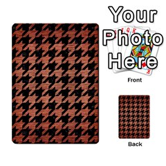 Houndstooth1 Black Marble & Copper Brushed Metal Multi Purpose Cards (rectangle) by trendistuff