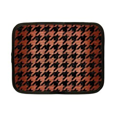 Houndstooth1 Black Marble & Copper Brushed Metal Netbook Case (small) by trendistuff