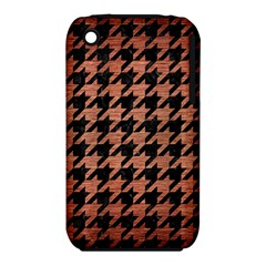 Houndstooth1 Black Marble & Copper Brushed Metal Apple Iphone 3g/3gs Hardshell Case (pc+silicone) by trendistuff
