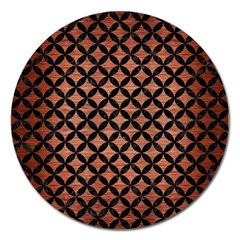 Circles3 Black Marble & Copper Brushed Metal (r) Magnet 5  (round) by trendistuff