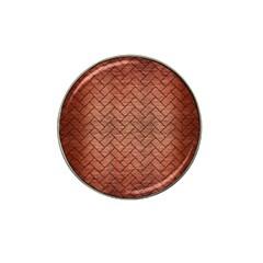 Brick2 Black Marble & Copper Brushed Metal (r) Hat Clip Ball Marker (4 Pack) by trendistuff