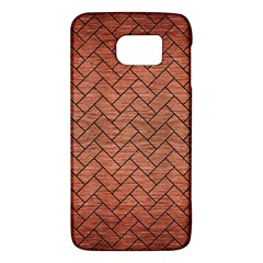 Brick2 Black Marble & Copper Brushed Metal (r) Samsung Galaxy S6 Hardshell Case