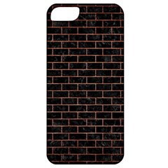 Brick1 Black Marble & Copper Brushed Metal Apple Iphone 5 Classic Hardshell Case by trendistuff