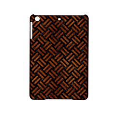 Woven2 Black Marble & Brown Burl Wood Apple Ipad Mini 2 Hardshell Case by trendistuff
