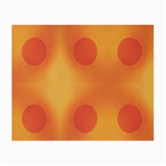 Sunny Happy Orange Dots Small Glasses Cloth by yoursparklingshop