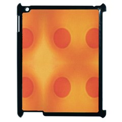 Sunny Happy Orange Dots Apple Ipad 2 Case (black) by yoursparklingshop