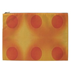 Sunny Happy Orange Dots Cosmetic Bag (xxl)  by yoursparklingshop