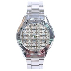 Geometric Diamonds Stainless Steel Analogue Watch by yoursparklingshop