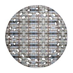 Geometric Diamonds Round Filigree Ornament (2side)
