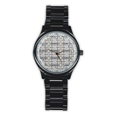 Geometric Diamonds Stainless Steel Round Watch by yoursparklingshop