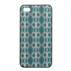Tropical Blue Abstract Ocean Drops Apple Iphone 4/4s Seamless Case (black) by yoursparklingshop