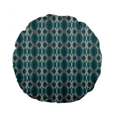 Tropical Blue Abstract Ocean Drops Standard 15  Premium Flano Round Cushions by yoursparklingshop