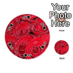 Red Roses Love Playing Cards 54 (round)  by yoursparklingshop