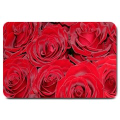 Red Roses Love Large Doormat  by yoursparklingshop