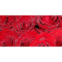 Red Roses Love You Are Invited 3d Greeting Card (8x4)  by yoursparklingshop