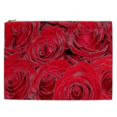 Red Roses Love Cosmetic Bag (xxl)  by yoursparklingshop