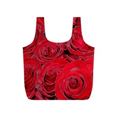 Red Roses Love Full Print Recycle Bags (s)  by yoursparklingshop