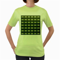 Black White Gray Crosses Women s Green T Shirt by yoursparklingshop